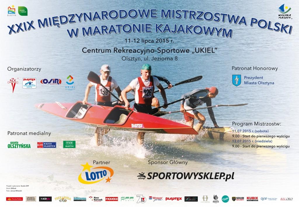 2015 Plakat MP w maratonie